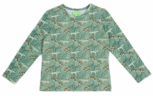 Lily Balou Florian T-Shirt Wolves Green