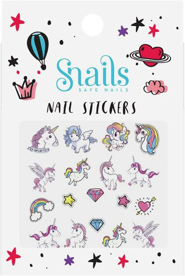 Snails 3D Nail Tattoo Sticker Unicorn