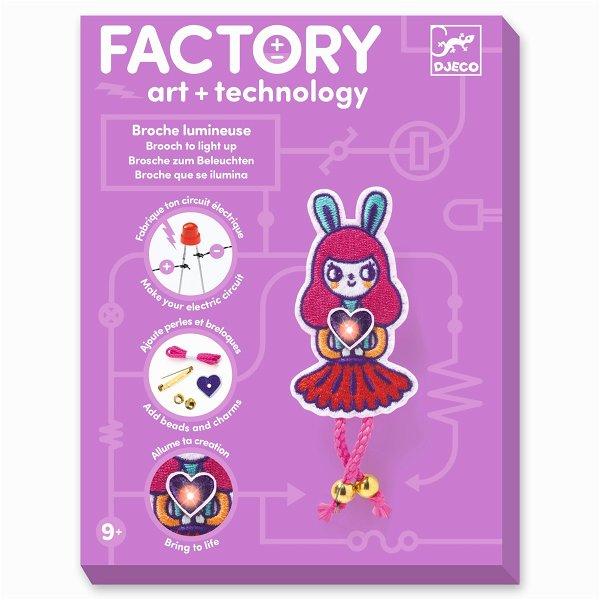Djeco Factory - Schmuck zum Beleuchten - Brosche Bunny Girl