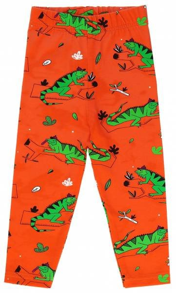 Raspberry Republic Leggings Ignacio the Iguana Red