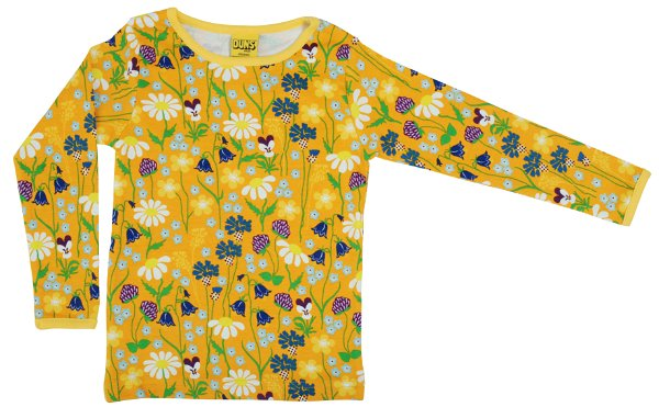 DUNS Midsommer Flowers Yellow LS Top
