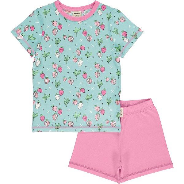 Meyadey by Maxomorra Pyjama Set SS Strawberry Fields