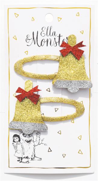 Ella & Monster Christmas Bells Haarspangen