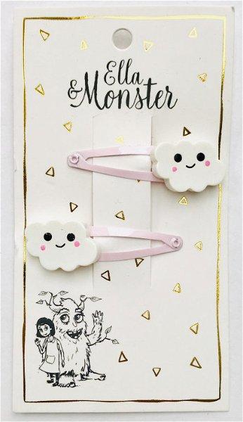 Ella & Monster Pink Sky Haarspangen