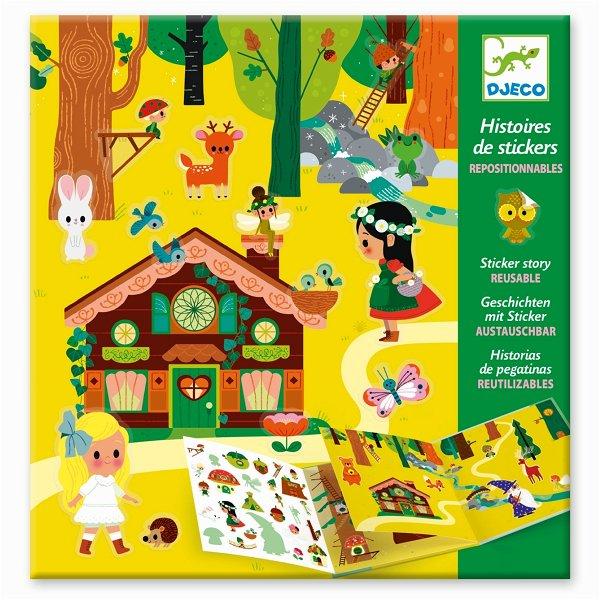 Djeco Geschichten mit Stickern - Zauberwald