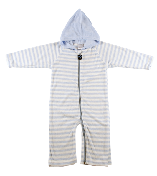Ducksday Summer Onesie Blue Stripe