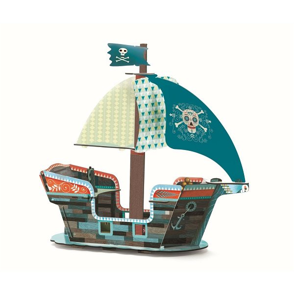 Djeco Pop to Play Piratenschiff 3D