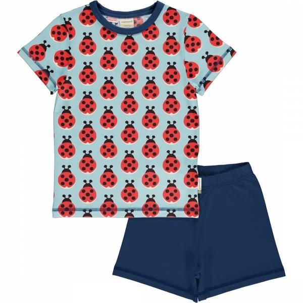Maxomorra Pyjama Set SS Lazy Ladybug
