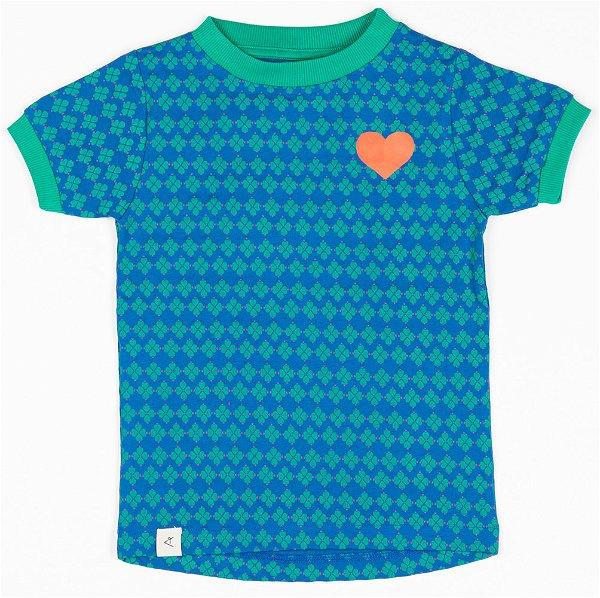 Albababy Bella T-Shirt Snorkel Blue Flower Hearts