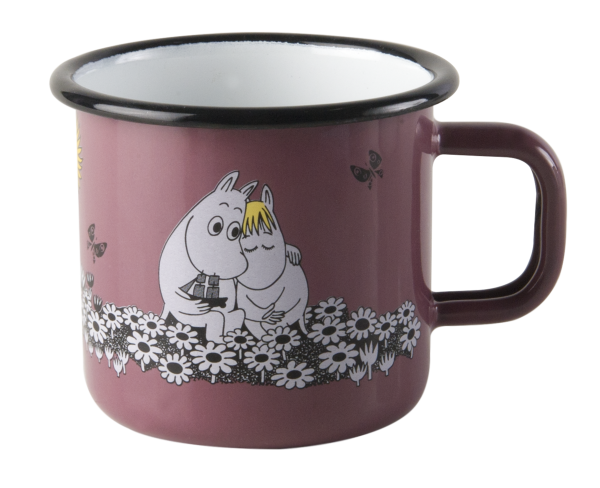 Muurla Emaille Tasse Moomin Together Forever Retro 370 ml
