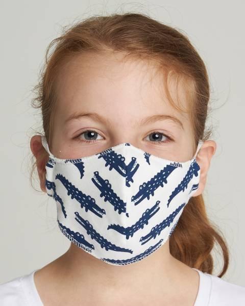 Loud + Proud Maske für Kinder Krokodil Ultramarine