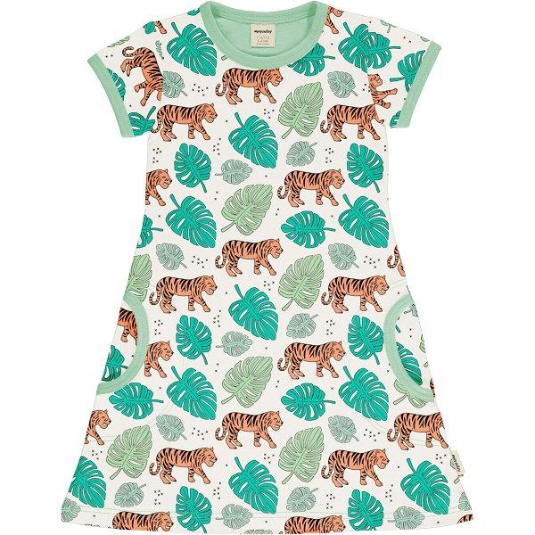 Meyadey by Maxomorra Dress SS Tiger Jungle