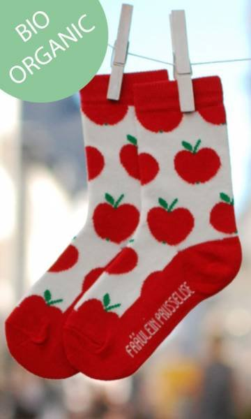 Fräulein Prusselise Bio Socken Apfel Rot