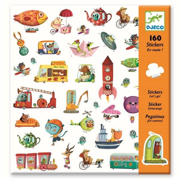 Djeco 160 Sticker Let`s Go