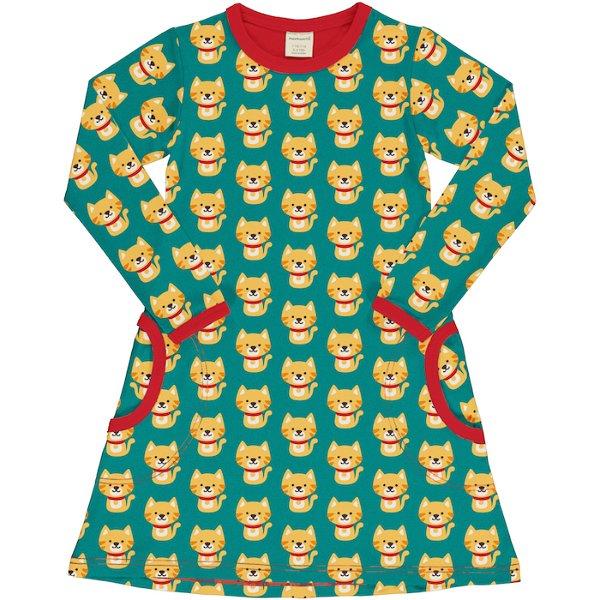 Maxomorra Dress LS Cat