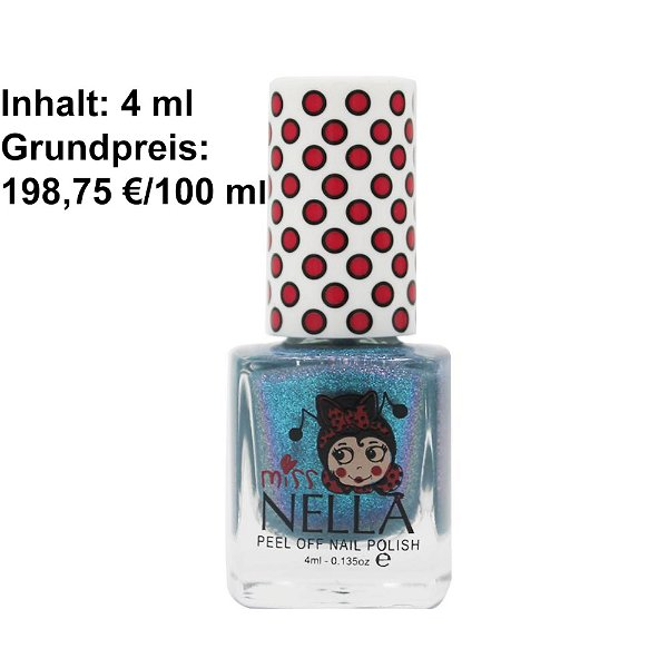 Miss Nella Peel Off Nagellack Blue The Candles