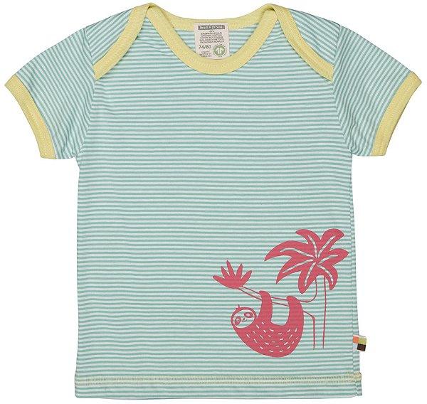 Loud + Proud T-Shirt feiner Streifen, Mint