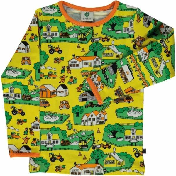 Smafolk T-Shirt LS Landscape Yellow
