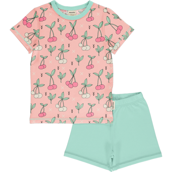 Meyadey by Maxomorra Pyjama Set SS Cherry Kiss
