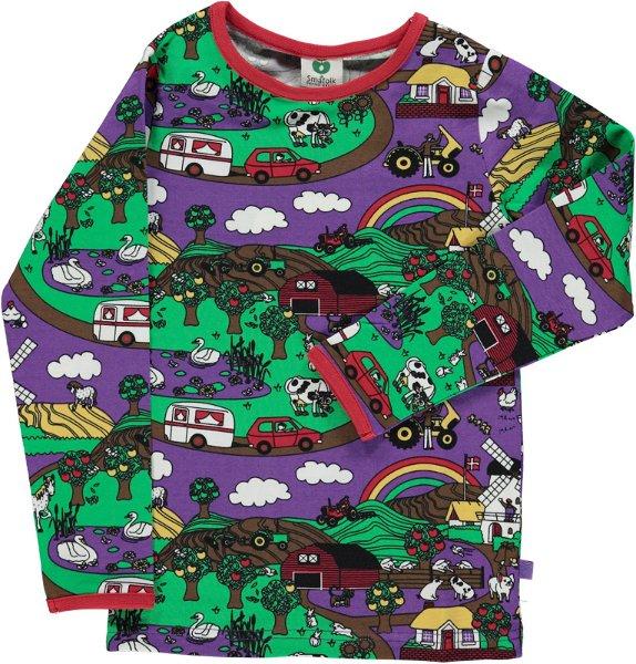Smafolk T-Shirt LS Landscape Purple Heart