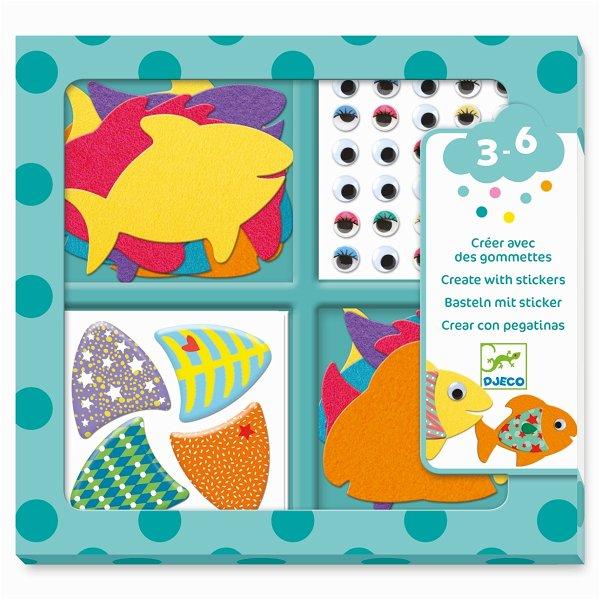 Djeco Sticker - Ich liebe Fische