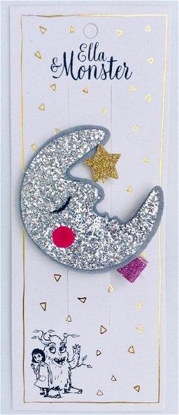 Ella & Monster Moon Glitter Big Haarspange