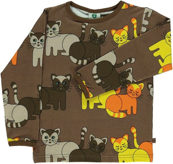 Smafolk T-Shirt with Cats Toasted Coco