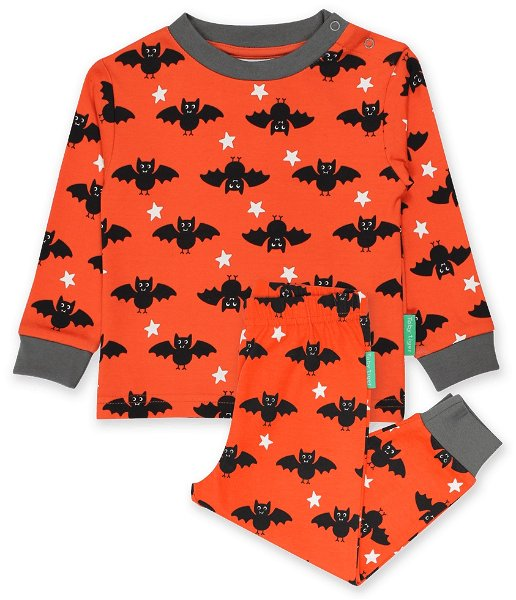 Toby tiger Organic Bat Print Pyjamas