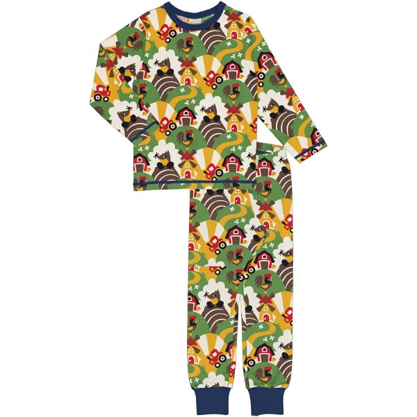 Maxomorra Pyjama Set LS Farm