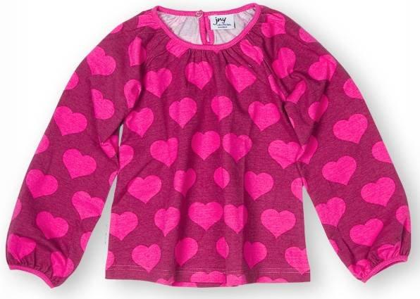 JNY colourful Kids Puffyshirt LS Heart