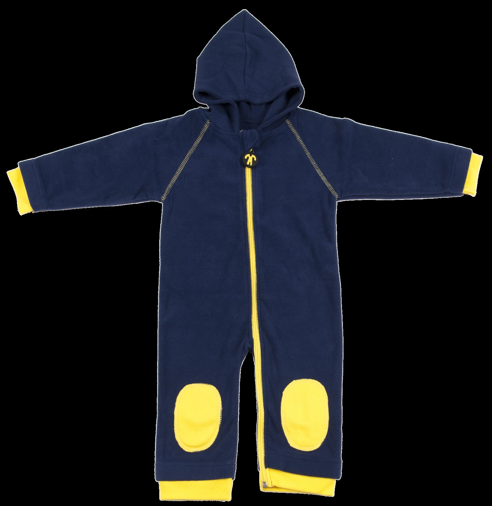 8266118a6aa796 Ducksday Fleecesuit Blue   Yellow