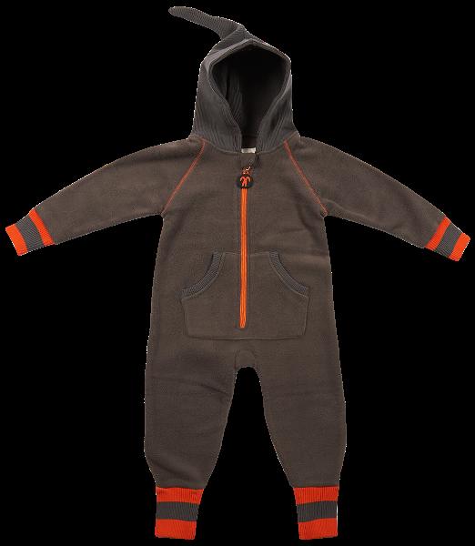 Ducksday Fleece Suit Grey Orange New