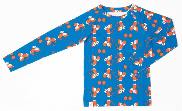 Albababy Everyday Long Tee Snorkle Blue The Cat and The Ballon