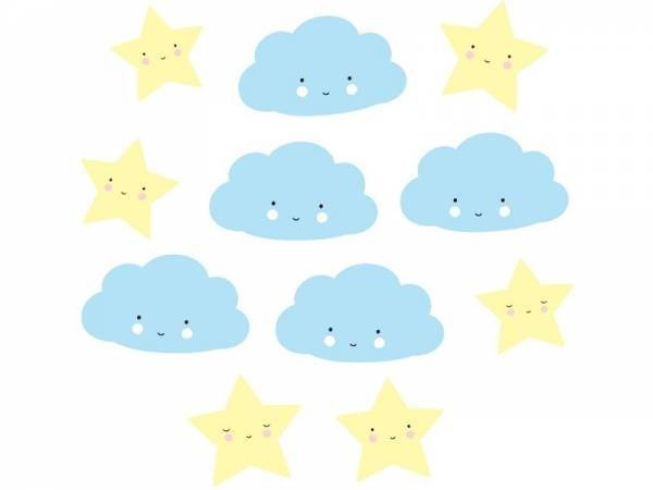 A Little Lovely Company Lovely Garland Blue Cloud