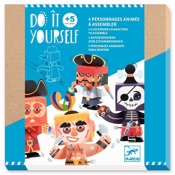 Djeco Do It Yourself - Figuren zum Zusammenbauen - Klar zum Entern!
