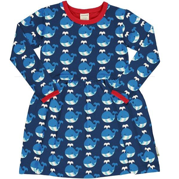 Maxomorra Dress Spin LS Whale