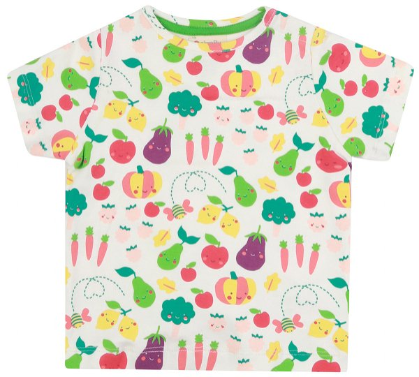 Piccalilly Grow Your Own All Over Print T-Shirt White