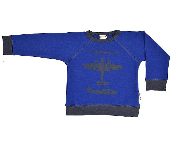 Baba Babywear Sweater Screenprint Kobalt