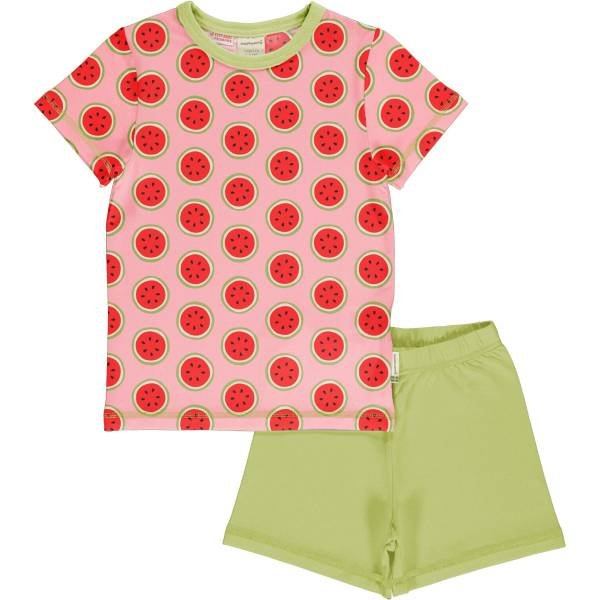 Maxomorra Pyjama Set SS Watermelon