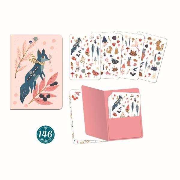 Djeco Notizbuch mit Stickern Lucille