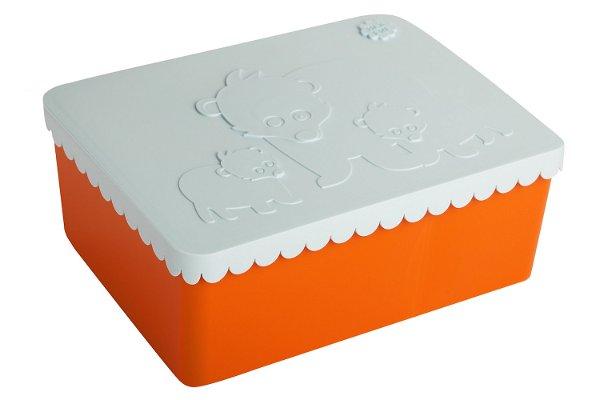 Blafre Lunchbox Bear Orange Light Blue