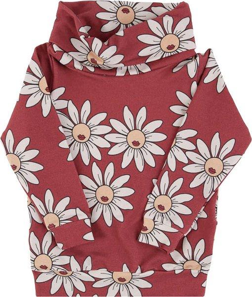Dear Sophie Red Daisy Tube Sweatshirt