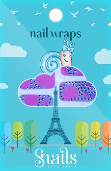 Snails Nail Wrap Pink Zebra