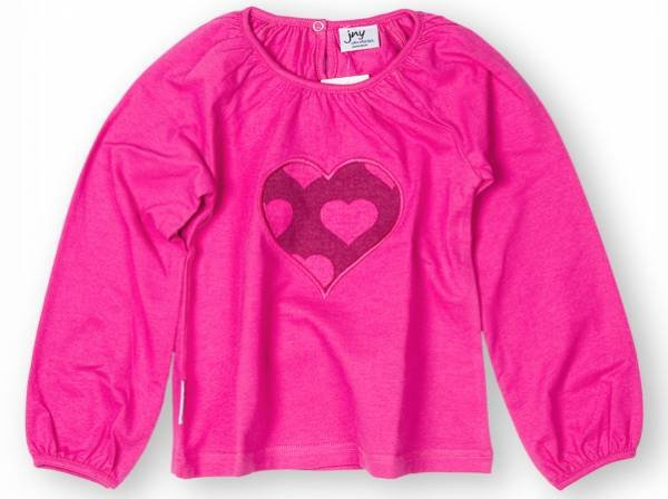 JNY colourful Kids Puffyshirt LS Application Heart
