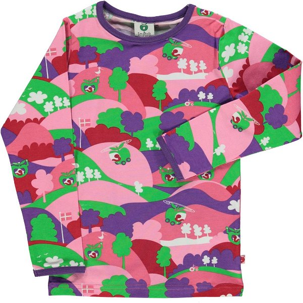 Smafolk T-Shirt with Landscape Sea Pink