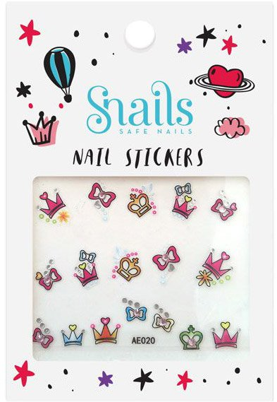 Snails 3D Nail Tattoo Sticker Perfect Princess