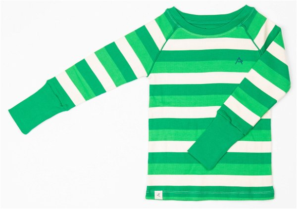 Albababy Our Favorite Rib Blouse Kelly Green Stripes