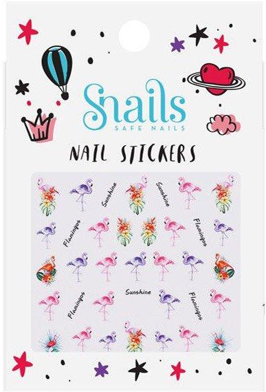 Snails 3D Nail Tattoo Sticker Flamingo