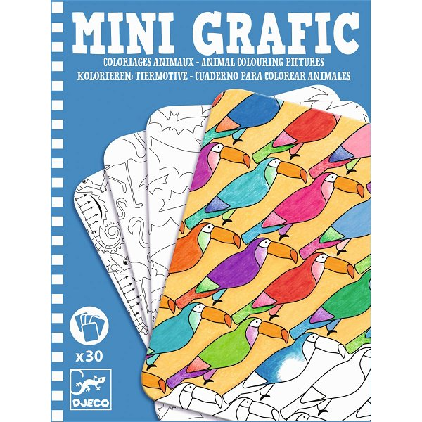 Djeco Mini Grafic Animal Colouring Pictures