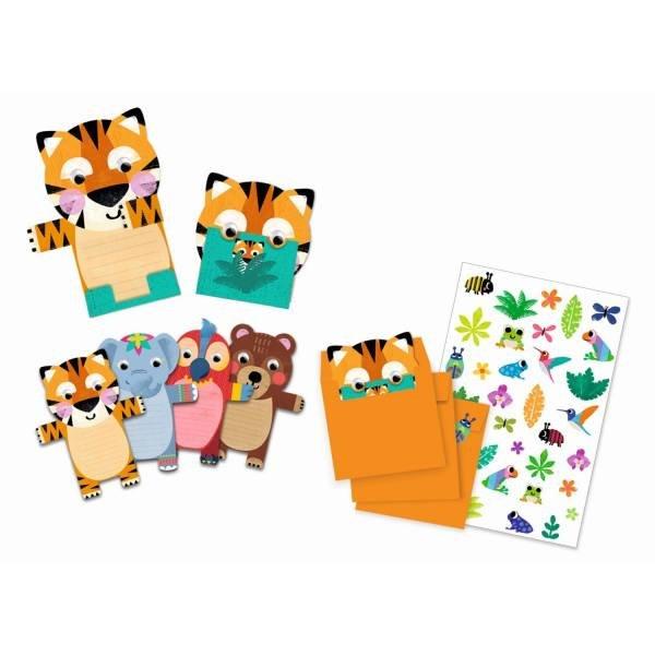 Djeco Geburtstag Einladungskarten Wild Animals